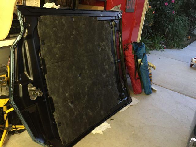 repaint hood, new insulation