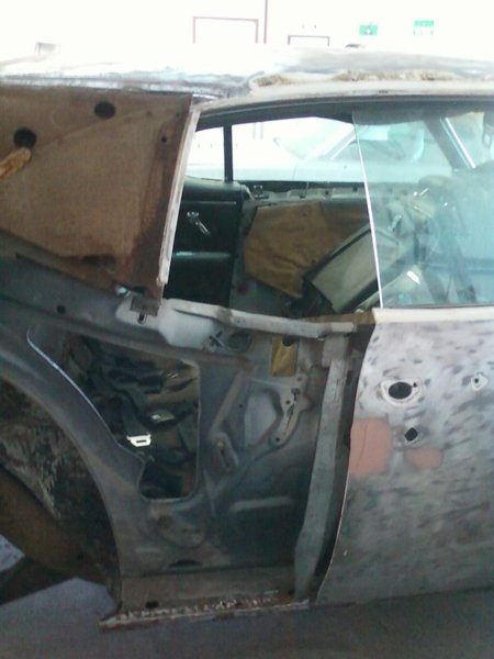 Quarter panel removed at factory seam