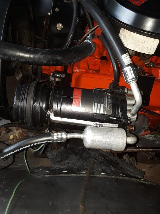Compressor with new lines installed.jpg